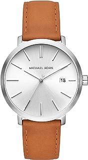 Michael Kors Blake Men's Silver Dial Leather Analog Watch - MK8673