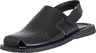 Mario Pellino Mens Casual Sandals Handmade Genuine Leather Sandals For Mens (43 M EU/11-11.5 B(M) US, Black)