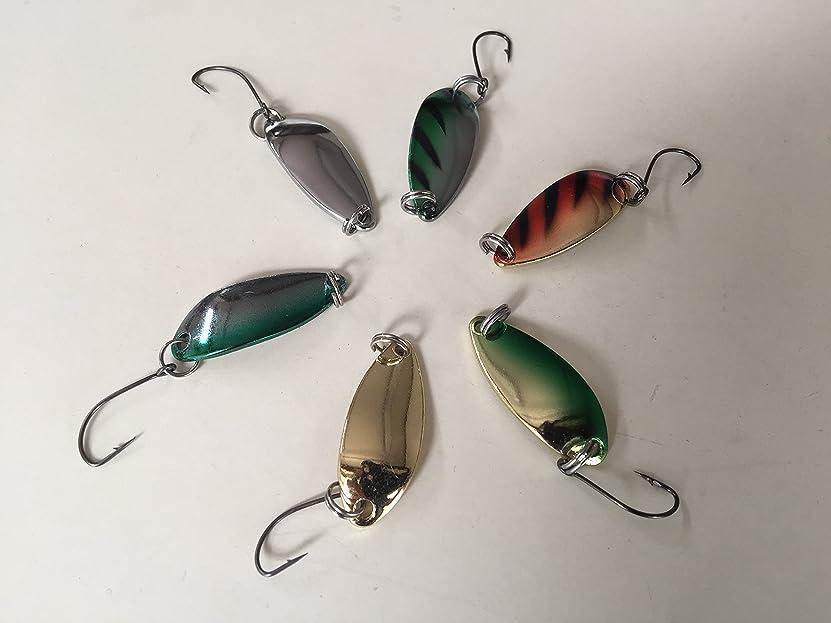 有名うねるズーム釣れる スプーン 3g 渓流 釣り 6種 セット ルアー トラウト