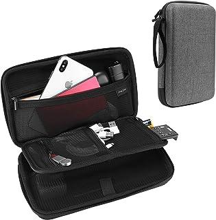 حقيبة ProCase Hard Travel Tech المنظم لأجهزة الإلكترونيات شاحن سلك محمول خارجي صلب كابلات USB لبنك الطاقة بطاقات ذاكرة SD ...