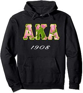 AKA Pink and Green 1908 Kappa Sorority Woman's Pullover Hoodie
