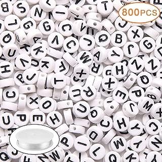 Best round alphabet beads Reviews