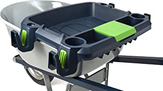 Original Little Burro, USA made lawn/garden tray for all 4-6 cu. ft. wheelbarrows. Holds rake, shovel, short handle tools, drinks & water tight storage for phone. Wheelbarrow not included. Great gift!