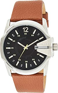 Diesel Men's Master Chief Quartz Leather Three-Hand Watch, Color: Brown (Model: DZ1617)