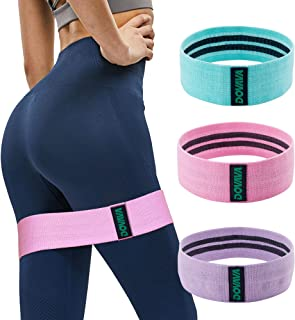 DOVAVA Booty Bands Set of 3, Fabric Heavy Resistance Loop Band for Legs and Butt, Non-Slip Working Band for Women and Men