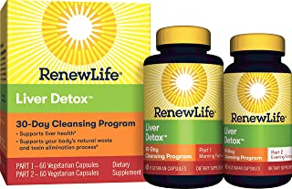 Renew Life Adult Cleanse - Liver Detox - 2-Part, 30-Day Program - Gluten & Dairy Free - 120 Vegetarian Capsules
