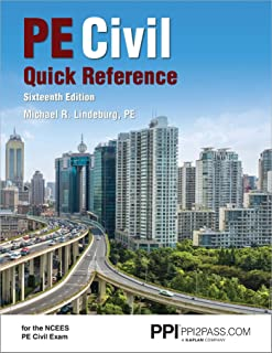 Ppi Pe Civil Quick Reference, 16th Edition - A Comprehensive Reference Guide for the Ncees Pe Civil Exam