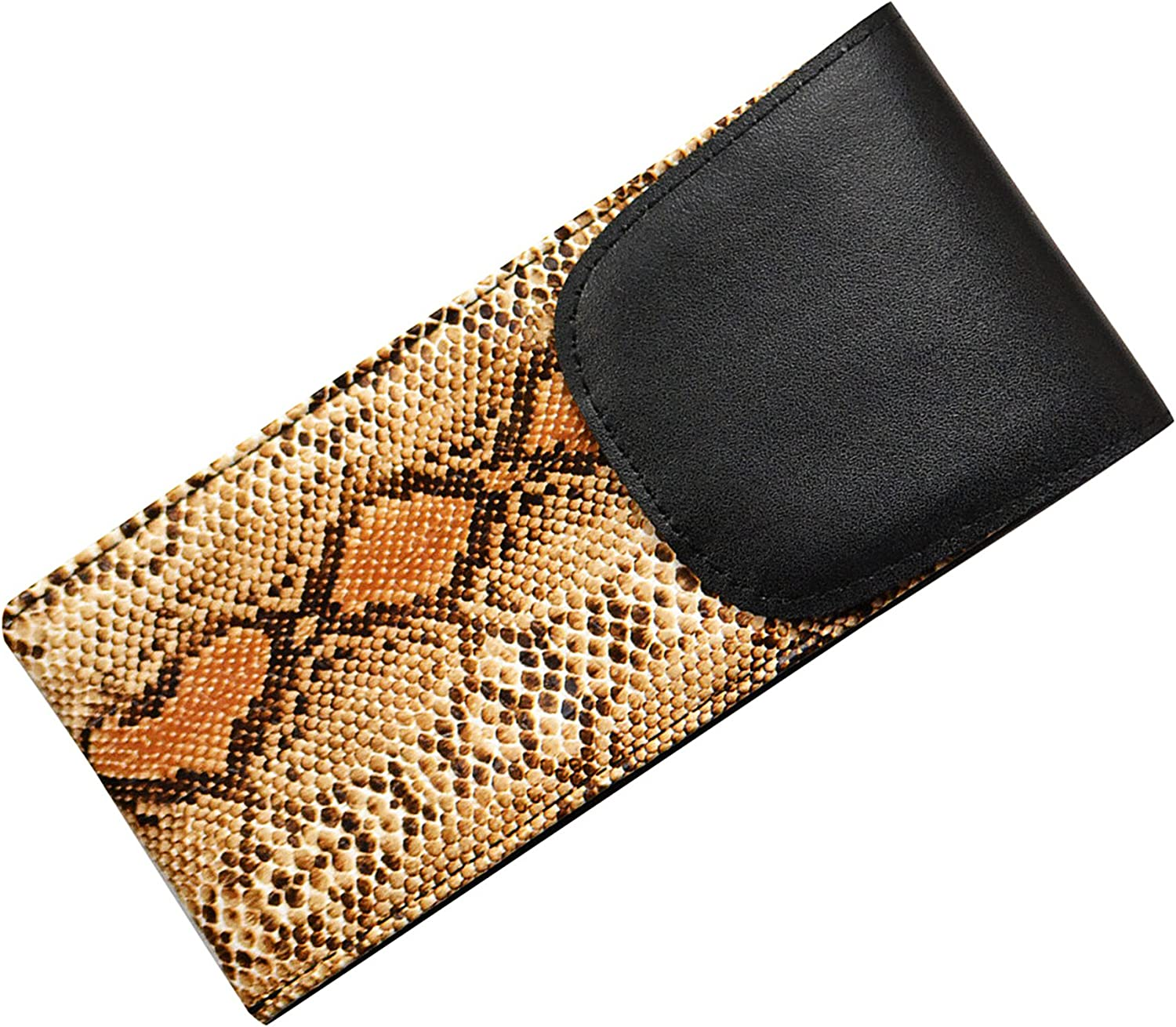 Faux Snake Skin 2 Pack Soft Eyeglass Cases Slip In Style With Velcro Closure