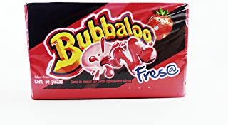 Bubbaloo Fresa/Strawberry Mexican Gum 1 Pack of 50pcs