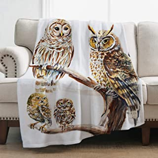 Levens Owl Throw Blanket Soft Blanket for Bed Couch Sofa Lightweight Travelling Camping Throw for Kids Adults 50