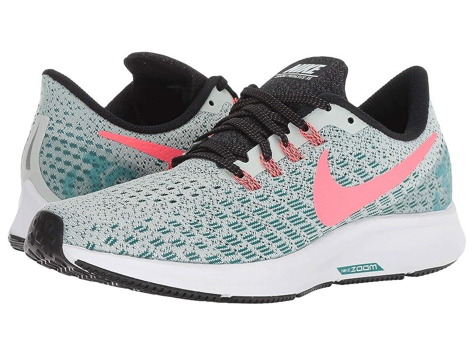 Nike Air Zoom Pegasus 35 (Barely Grey/Hot Punch/Geode Teal/Black) Women