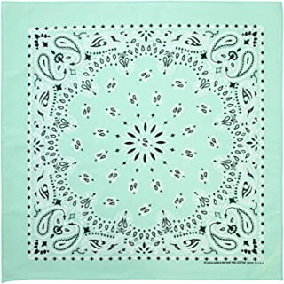 100% Cotton Western Paisley Bandanas (22 inch x 22 inch) Made in USA