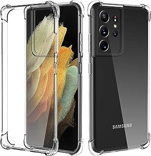Migeec Funda para Samsung Galaxy S21 Ultra 5G Suave TPU Gel Carcasa Anti-Choques Anti-Arañazos Protección a Bordes y Cámar...