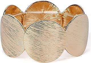gold disk bracelet