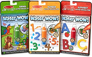 Melissa & Doug Water Wow! Bundle - Animals, Alphabet and Numbers