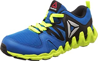 Reebok Unisex Zig Big N Fast Fire Blue/Blck/Yellow/Wht Running Shoes-6.5 UK (39 EU) (7 Kids US) (AR1746)
