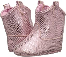 Soft Sole Snake Print Western Boot (Infant)