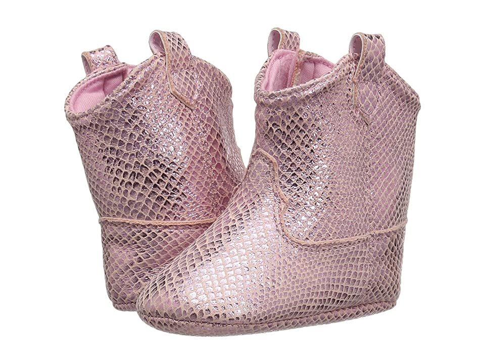 Baby Deer Soft Sole Snake Print Western Boot (Infant) (Pink) Girls Shoes