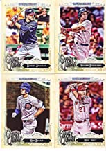 2017 Topps Gypsy Queen MLB Baseball Complete Mint Basic 300 Card Hand Collated Set with Stars Plus Rookie Cards of Aaron Judge, Andrew Benintendi and More