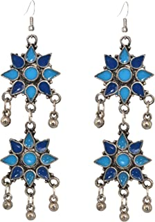 Sansar India Oxidized Afghani Earrings for Girls and Women
