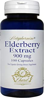 Elderberry Capsule Supplement 900mg - Premium Elderberry Extract from All Natural Black Elderberry Plants - 100 Capsules (50 Day Supply)