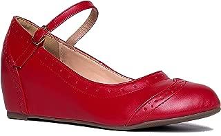 vintage style red heels