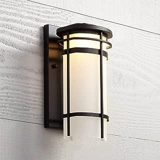 Clemson Modern Outdoor Wall Light Fixture LED Dimmable Bronze Steel 13