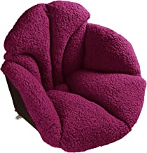 Hughapy Support Waist Backrest Pad Seat Cushion Cashmere Wool Keep Warm, Best Cushion for Home/Office Chair, Car Seat, Rec...