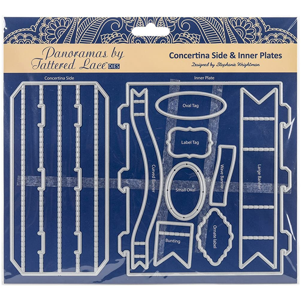 Create and Craft Panorama Concertina Sides & Inner Plates Tattered Lace Metal Die