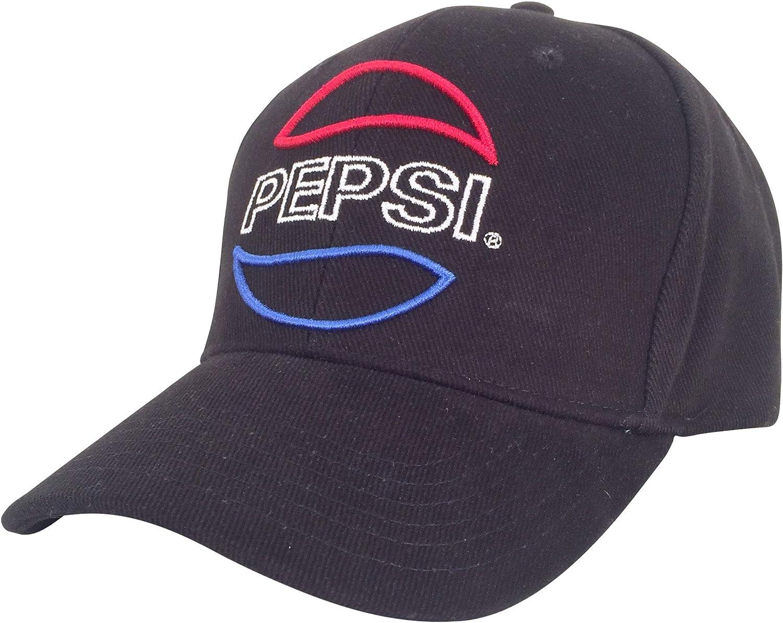 Tee Luv Pepsi Hat - Black Pepsi Logo Baseball Cap