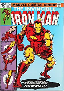 Open Road Brands Vintage Retro Metal Tin Signs - The Invincible Iron Man #126 Comic Sign - Great for Man Caves, Garage Art, and Home Decor