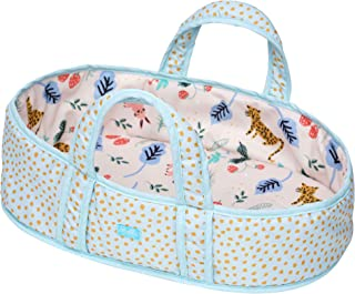 """Manhattan Toy Stella Collection Soft Fabric Baby Doll Bassinet and Carrier for 12"""" to 15"""" Baby Dolls"""