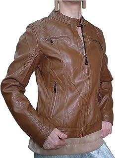 Chiodo - Chaqueta forrada de piel sintética para mujer, tallas grandes, ajustada