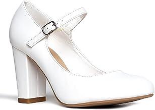 Amazon.com: White Mary Janes