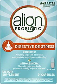 Align Digestive DE-Stress Probiotic + Herbal Ashwagandha Supplement, Dietary Supplement, 21 Capsules