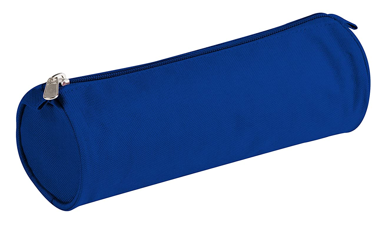 Clairefontaine 7 x 22 cm Polyester Round Pencil Case, Blue