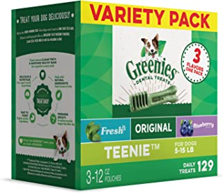 Greenies Variety Pack Treats for Dogs - Teenie - 36oz