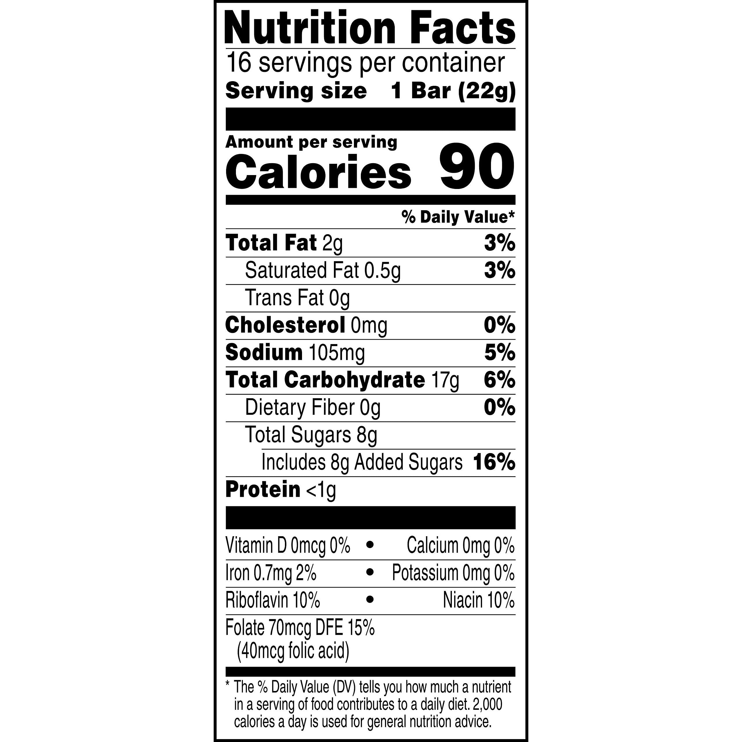Rice Krispies Treats Marshmallow Snack Bars, Kids Snacks, School Lunch, Value Pack, Original, 12.4oz Box (16 Bars)