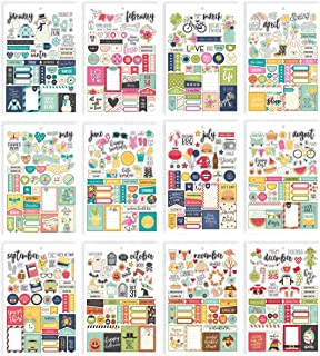 Simple Stories 7974 Planner Essentials Stickers, Multi-Colour, Size A5, Pack of 12