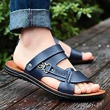 ShSnnwrl Hommes Designers été Bout Ouvert Mode Tendance Chaussures de Plage Pantoufles été Sandlas en Plein air pour Hommes