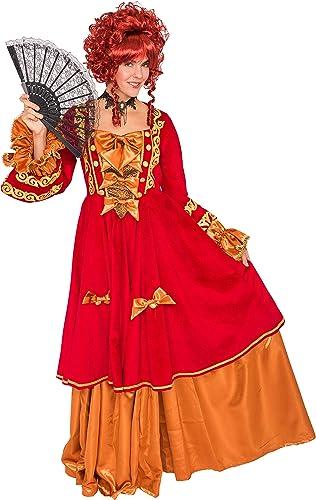 Deiters Kleid Marquise de Luxe rot Gold M