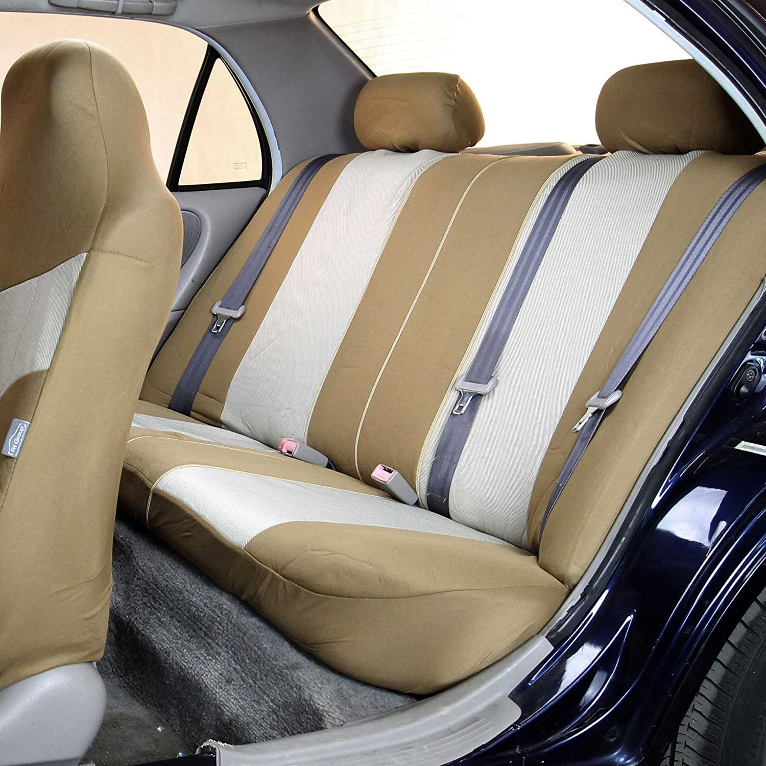 Details about  /2 Front Tan Beige Poly Fabric Car Seat Covers for Infiniti #16103