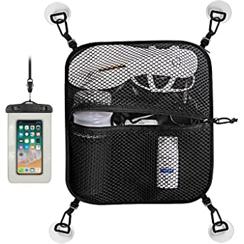 Unigear Paddleboard Deck Bag, Mesh Storage Bag Sup Accessories with 4pcs D-Ring Patches with Waterproof Phone Case