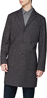 Ben Sherman Mens Vintage British Herringbone Overcoat
