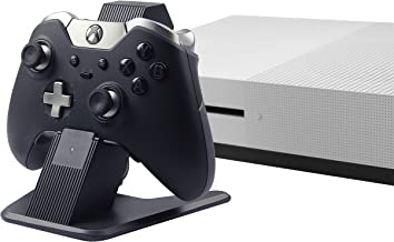 AmazonBasics Aluminum Controller Charger Stand for Xbox One, Xbox One S, and Xbox One X - 2.6 Foot USB Cable, Black