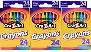 Cra-Z-Art Crayons, 24 Count, Pack of 3