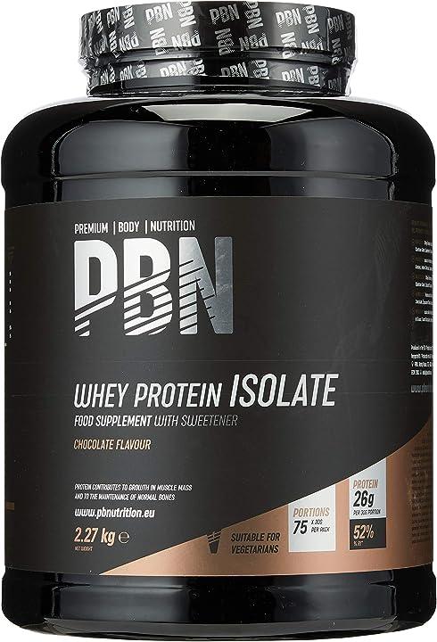 Proteine isolate del siero di latte in polvere, 2.27 kg - premium body nutrition whey-isolate - cioccolato PBN4050