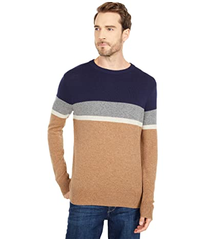 J.Crew Merino Nylon Color-Block Crew (Navy) Men