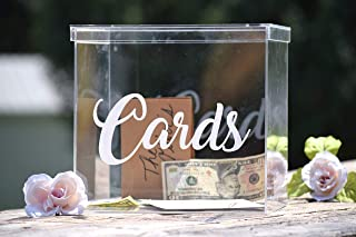 Clear Card Box - Wedding Card Box - Personalized Card Box - Wedding Keepsake Box - Acrylic Card Box - Wedding Card Box with Slot - Card Box for Wedding