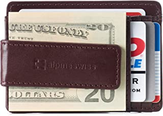 Alpine Swiss RFID Harper Money Clip Front Pocket Wallet For Men